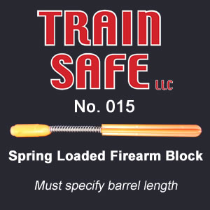 Spring Loaded Firearm Barrel Block - Train Safe