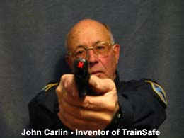 Train, Safe, Gun, Safety, Chamber block, barrel block, Block, chamber, training, barrel, block, locks, barrel insert, hand guns, shot guns, rifles, firearm, officer, police, military, conceal carry, disable, shooting, target, made in the USA, American, parts, law enforcement, instructor, firearm instructor, academy, accidental, shooting, bullet, ammunition, live round, child proof, locked, avoid injury, government, visual indicator, gun shows, gun stores, unloaded, assembled, caliber, 380 cal, 9mm, 40 cal, 45 cal,  spring loaded,  Berretta, H&K, Glock, Kimber, Ruger, Sig Sauer, Smith & Wesson, Springfield Armory USA, Walther, M9, XFive, storm, compact, combat, ultra, 12 gauge, 223, 308, brownell, magazine, optics, gunsmith, emergency, reloading, ammo, kids, adults, firearm training, gun safety, conceal and carry class, Minnesota, United States, California, Texas, Iowa, New York, Protection, Canada, borders, proven, retired police, custom, gun shop, live round, blanks, bullet proof, John Carlin