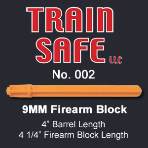 9 MM Firearm Barrel Block - Train Safe