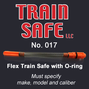 Train, Safe, Gun, Safety, Chamber block, barrel block, Block, chamber, training, barrel, block, locks, barrel insert, hand guns, shot guns, rifles, firearm, officer, police, military, conceal carry, disable, shooting, target, made in the USA, American, parts, law enforcement, instructor, firearm instructor, academy, accidental, shooting, bullet, ammunition, live round, child proof, locked, avoid injury, government, visual indicator, gun shows, gun stores, unloaded, assembled, caliber, 380 cal, 9mm, 40 cal, 45 cal, spring loaded, Berretta, H&K, Glock, Kimber, Ruger, Sig Sauer, Smith & Wesson, Springfield Armory USA, Walther, M9, XFive, storm, compact, combat, ultra, 12 gauge, 223, 308, brownell, magazine, optics, gunsmith, emergency, reloading, ammo, kids, adults, firearm training, gun safety, conceal and carry class, Minnesota, United States, California, Texas, Iowa, New York, Protection, Canada, borders, proven, retired police, custom, gun shop, live round, blanks, bullet proof, John Carlin Spring Loaded Firearm Barrel Block - Train Safe